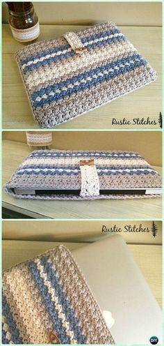 Crochet Apple Laptop Case Free Pattern - DIY Gift Ideas for Crocheters