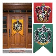 New College Flag Banners Gryffindor Slytherin Hufflerpuff Ravenclaw Boys Girls Kids Decor Harry Potter Halloween Party Supplies Harry Potter Banner, Harry Potter Fiesta, Décoration Harry Potter, Halloween Decorations For Kids, Decoration Christmas, Chandigarh, Harry Potter Party Supplies, Gryffindor Slytherin Hufflepuff Ravenclaw, Slytherin