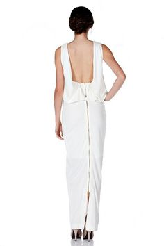 Earth Angel Open Back Maxi Dress - White