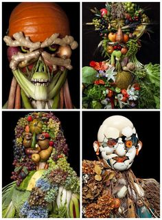 Food Art by Klaus Enrique #Food, #Photography, #Portrait, #Vegetable