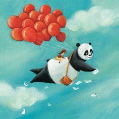 Marie Cardouat  Panda Bear Illustration