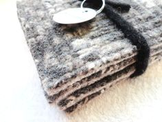 Coasters GRAY & BEIGE Fair Isle Sweater Recycled Mug Rugs by WormeWoole