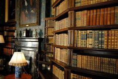 Dunster Castle library detail (United Kingdom) #libraries