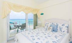 Queen Bedroom and Balcony Queen Bedroom, Grand Cayman, Valance Curtains, Balcony, Furniture, Home Decor, Decoration Home, Room Decor, Home Furniture