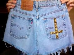 High-wasted shorts are totally back in! The studs give it a hipster, edgy vibe.