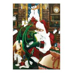 Santa with Dragon Friend Jigsaw Puzzle - Xmas ChristmasEve Christmas Eve Christmas merry xmas family kids gifts holidays Santa Christmas Card Template, Christmas Photo Cards, Christmas Greeting Cards, Christmas Photos, Christmas Greetings, Holiday Cards, Christmas Eve, Christmas Garden Flag, Make Your Own Puzzle