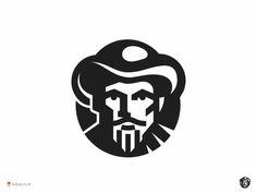 Farmer designed by George Bokhua. Connect with them on Dribbble; Logo Inspiration, Logo Branding, Branding Design, Draw Logo, Logo Character, Restaurant Logo, Logo Face, Logo Shapes, Visual Identity