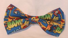 SUPERMAN COMIC HAIR BOW - available on therubypig.com