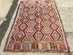 $575 8.1x5.4 feet (247x166 cm)Vintage Rug,Traditional Kilim Rug, Embroidered Kilim Rug, Sofa Kilim, Kilim Rug, Handmade Kilim Rug,