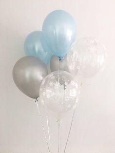 Light Blue Silver Snowflake Latex Balloons Winter Onederland First Birthday Winter Baby Shower Snowflake Balloons Wonderland Party Boy Party