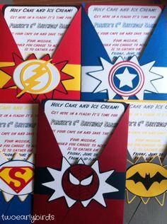Superhero Birthday Invitations by TwoEarlyBirds on Etsy, $20.00