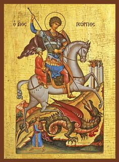 Iconograms features Orthodox icons, lives of Saints, hymns of the Eastern Orthodox Church and Ecards for almost any occasion! Religious Images, Religious Icons, Religious Art, Saint George And The Dragon, Pagan Gods, Byzantine Icons, Dragon Slayer, Orthodox Icons, Spirituality Books