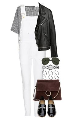 """""""Untitled #3421"""" by lily-tubman ❤ liked on Polyvore featuring MANGO, Frame Denim, Chloé, Salvatore Ferragamo, ASOS, Marc by Marc Jacobs and Yves Saint Laurent"""