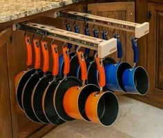 Need this time of organization in my life and the pots too.