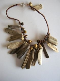 driftwood pendants jasper agate stone beads wrapped by judycorlett Driftwood Jewelry, Wooden Jewelry, Handmade Jewelry, Jewelry Crafts, Jewelry Art, Jewelry Design, Fashion Jewelry, Hippie Jewelry, Ethnic Jewelry
