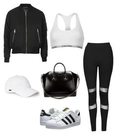 """Errand Day"" by mpowery ❤ liked on Polyvore featuring Topshop, Calvin Klein, adidas Originals, Givenchy and Lacoste"