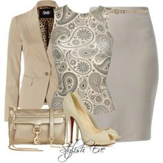 A great work outfit♥ from Stylish Eve! Stylish Eve Outfits, Classy Outfits, Chic Outfits, Fashion Outfits, Womens Fashion, Woman Outfits, Petite Fashion, Curvy Fashion, Business Fashion