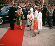 May 1957, Queen Elizabeth II arrives for a visit to 'Vigerslevgaard' Welfare Centre.