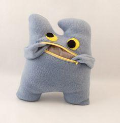 Blue pocket plushie / Plush monster / Monster plushie with pocket / Gift for children and goofy adults -Blue monster plushie NYLLF