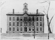 Manasseh Cutler Hall, 1800s. 	Reproduction of Manasseh Cutler Hall image. Manasseh Cutler Hall is the oldest building erected for higher education west of the Alleghenies and north of the Ohio River. It has served as a dormitory, classroom building, laboratory, library, and and museum over the years. In 1966, it was designated a National Historic Landmark. Currently it houses the OU president's office.  :: Ohio University Archives