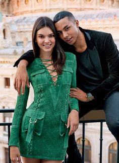 Kendall Jenner and Olivier Rousteing for Vogue, December 2015