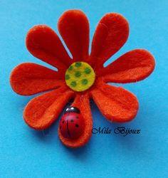 fiore fustellato con coccinella, by Mila Bijoux, 1,00 € su misshobby.com