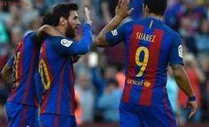 El tridente del Barcelona no se rinde