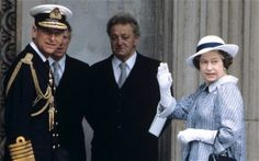The Queen and the Duke of Edinburgh arriving at St Paul's Cathedral for the commemoration service in July 1982 that followed victory in the Falklands. Photo: Rex Features