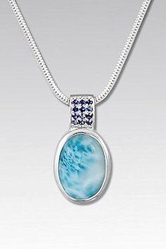 Larimarket - MarahLago Reah Collection Larimar Necklace with Blue Sapphire, $258.00 (http://www.larimarket.com/marahlago-reah-collection-larimar-necklace-with-blue-sapphire/)