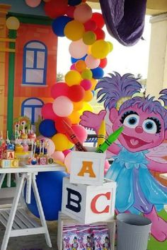 Another classic that has a place in everyone's heart is Sesame Street. There's so much to love about it. You've got Big Bird, Elmo, the Cookie Monster, to name just a few. They are all a great addition to a party that will be a guaranteed hit with anyone year old.. See more party ideas and share yours at CatchMyParty.com #catchmyparty #partyideas #sesamestreetbirthdayparty #girl1stbirthdayparty #sesamestreet1stbirthdayparty #sesamestreet #girl1stbirthdayideas #girl1stbirthdaythemes #girl1stbirth Boys 1st Birthday Party Ideas, Birthday Party Decorations, Girl Birthday, Cookie Monster Party, Sesame Street Party, 1st Birthdays, Big Bird, Ideas Para, Diy Gifts