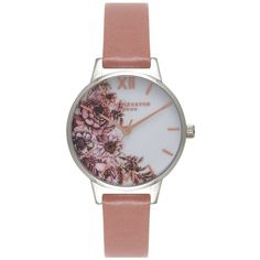 Olivia Burton Flower Show Midi Dial Watch - Rose, Silver & Rose Gold (1,695 MXN) ❤ liked on Polyvore featuring jewelry, watches, rose watches, quartz movement watches, olivia burton watches, dial watches and flower watches