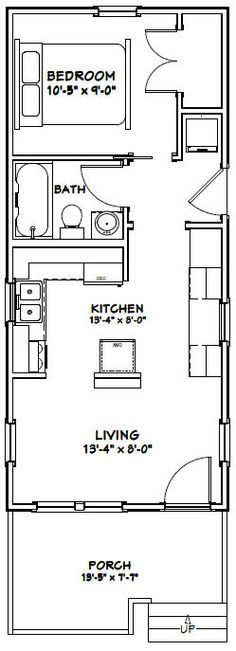 20 39 x20 39 apt floor plan floor plan tiny for 14 x 40 house plans