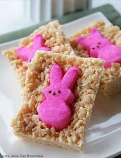 Easter Peep Rice Crispy Treats