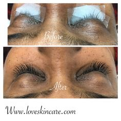 a154f090611 Before And After eyelash extensions | Eyelash Extensions and Skin ...