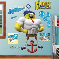 Fathead SpongeBob Sour Note Wall Decals Wall Sticker Outlet - Spongebob wall decals
