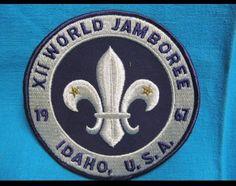 """1967 BOY SCOUT XII WORLD JAMBOREE 5"""" PATCH IDAHO U.S.A."""