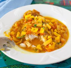 Fried fish with tomato and mango salsa