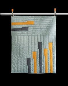 Got Me in Stitches Piano Drum Modern Baby Quilt contemporary quilts    Ideas for patching up Noah's blanket