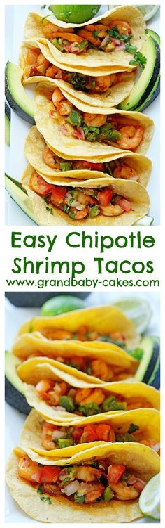 Easy Chipotle Shrimp Tacos! You won't believe how fast this recipe is! And so delicious! #spon #ziploc ~ http://www.grandbaby-cakes.com: