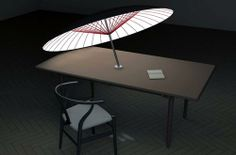 14 Creative and Cool Lampshade Designs.  Umbrella Lampshade: Designed by Ze-Siao