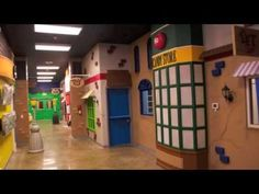 I love the idea of decorating the childrens wing as a toon town!  Children's Church Theming, Freedom Church, Gallatin, TN