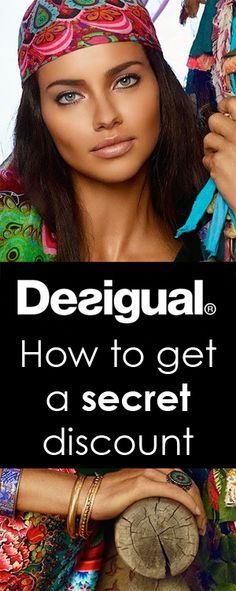How to get a secret discount at desigual. LOVE this brand