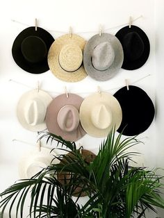 Finest DIY Hat Rack Ideas for Your Hat Organizer Need ideas on how to store your hats? These most creative hat rack ideas may help you doing your hat organization. Wall Hat Racks, Diy Hat Rack, Hat Hanger, Wall Mounted Hat Rack, Diy Hangers, Hat Hooks, Diy Organization, Organizing, Home Decor Ideas