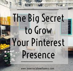 The Big Secret to Grow Your Pinterest Presence - I know that you've wondered to yourself that there has to be some steps to do this pinning stuff. There has to be a process to get more people to find your pins, click on them and go to your website. I'm here to tell you that yes ... there really is a Pinterest Process and here's how this works.  via @penneyfox