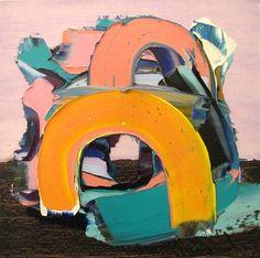 "CK Aderem, (Not Titled Yet), 2013, 12"" x 12"", oil on wood"