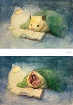 Illustrates The Typical Life Of A Japanese Hamster And The Result Is Very Cute Japanese Artist Depicts The Typical Life Of His Pet Hamster, And The Result Is Adorable Baby Animals, Funny Animals, Cute Animals, Cute Animal Drawings, Cute Drawings, Japanese Hamster, Arte Peculiar, Art Mignon, Cute Hamsters