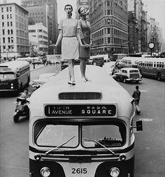 Dovima and Jean Patchett, Madison Square, Harper's Bazaar, 1958 © William Helburn / Staley-Wise Gallery New York