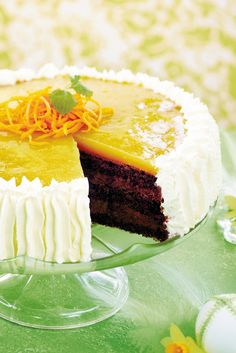Suklainen appelsiinihyytelökakku | K-ruoka #pääsiäinen