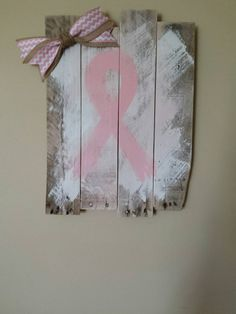 Pink Ribbon pallet for breast cancer awareness by SkrappieHappie