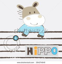 cute hippo cartoon v